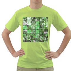 Background Of Green Squares Green T-Shirt