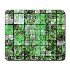 Background Of Green Squares Large Mousepads