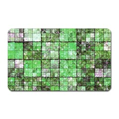 Background Of Green Squares Magnet (Rectangular)