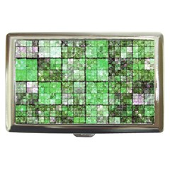 Background Of Green Squares Cigarette Money Cases