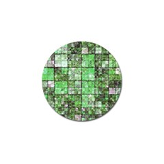 Background Of Green Squares Golf Ball Marker (10 pack)