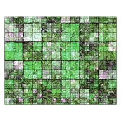 Background Of Green Squares Rectangular Jigsaw Puzzl