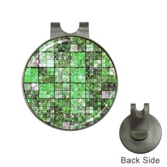 Background Of Green Squares Hat Clips with Golf Markers