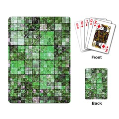 Background Of Green Squares Playing Card
