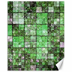 Background Of Green Squares Canvas 16  x 20