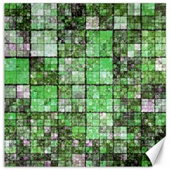 Background Of Green Squares Canvas 20  x 20