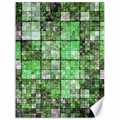 Background Of Green Squares Canvas 18  x 24