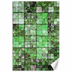 Background Of Green Squares Canvas 24  x 36