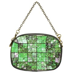 Background Of Green Squares Chain Purses (One Side)