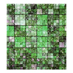 Background Of Green Squares Shower Curtain 66  x 72  (Large)