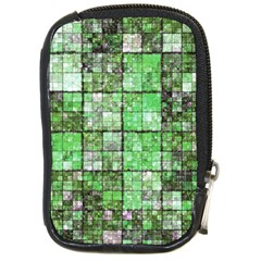 Background Of Green Squares Compact Camera Cases