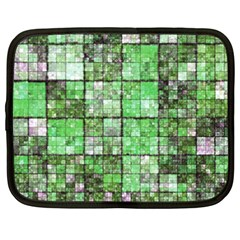 Background Of Green Squares Netbook Case (XXL)