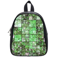 Background Of Green Squares School Bags (Small)