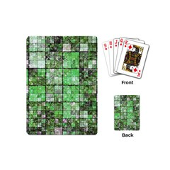 Background Of Green Squares Playing Cards (Mini)