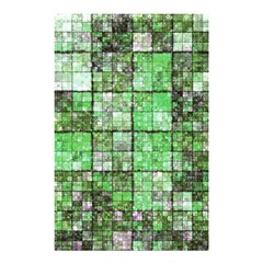 Background Of Green Squares Shower Curtain 48  x 72  (Small)