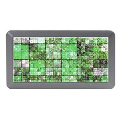 Background Of Green Squares Memory Card Reader (mini)