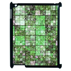 Background Of Green Squares Apple iPad 2 Case (Black)