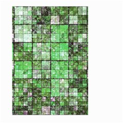 Background Of Green Squares Large Garden Flag (Two Sides)