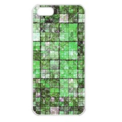 Background Of Green Squares Apple iPhone 5 Seamless Case (White)