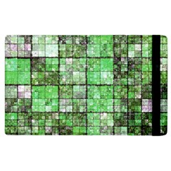 Background Of Green Squares Apple iPad 2 Flip Case