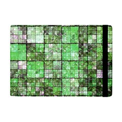 Background Of Green Squares Apple iPad Mini Flip Case
