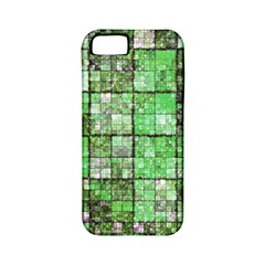 Background Of Green Squares Apple iPhone 5 Classic Hardshell Case (PC+Silicone)