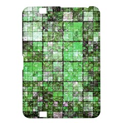 Background Of Green Squares Kindle Fire HD 8.9