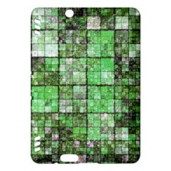 Background Of Green Squares Kindle Fire HDX Hardshell Case