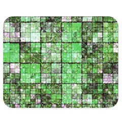 Background Of Green Squares Double Sided Flano Blanket (Medium)