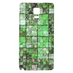 Background Of Green Squares Galaxy Note 4 Back Case