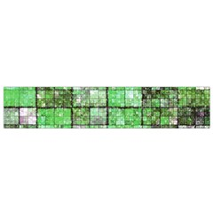 Background Of Green Squares Flano Scarf (Small)