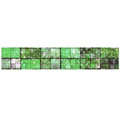 Background Of Green Squares Flano Scarf (Large)