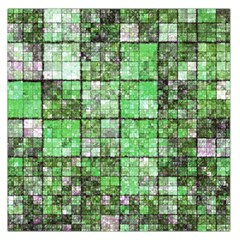 Background Of Green Squares Large Satin Scarf (Square)