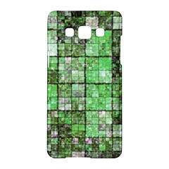 Background Of Green Squares Samsung Galaxy A5 Hardshell Case