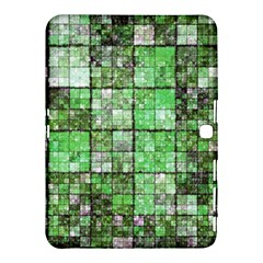 Background Of Green Squares Samsung Galaxy Tab 4 (10.1 ) Hardshell Case