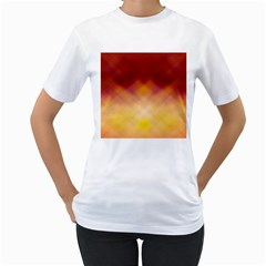 Background Textures Pattern Design Women s T-Shirt (White) (Two Sided)