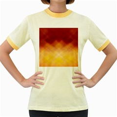 Background Textures Pattern Design Women s Fitted Ringer T-Shirts