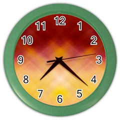 Background Textures Pattern Design Color Wall Clocks