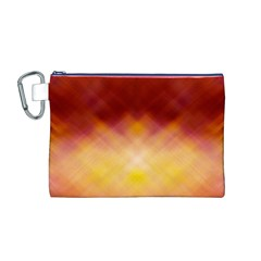 Background Textures Pattern Design Canvas Cosmetic Bag (M)
