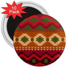 Background Plot Fashion 3  Magnets (10 pack)