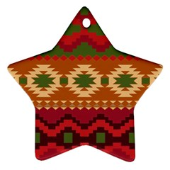 Background Plot Fashion Star Ornament (Two Sides)