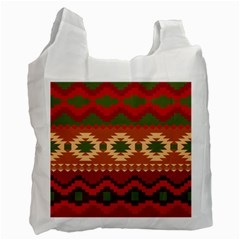 Background Plot Fashion Recycle Bag (Two Side)