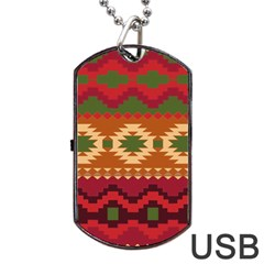 Background Plot Fashion Dog Tag USB Flash (Two Sides)