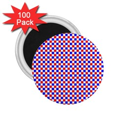 Blue Red Checkered 2.25  Magnets (100 pack)