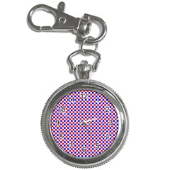 Blue Red Checkered Key Chain Watches
