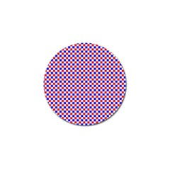 Blue Red Checkered Golf Ball Marker (10 pack)
