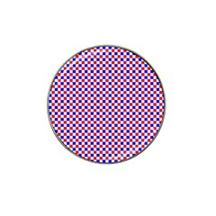 Blue Red Checkered Hat Clip Ball Marker (10 pack)