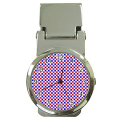 Blue Red Checkered Money Clip Watches