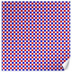 Blue Red Checkered Canvas 12  x 12