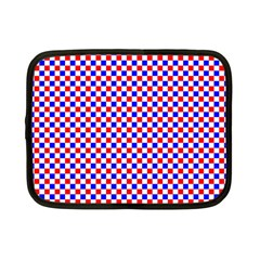 Blue Red Checkered Netbook Case (Small)